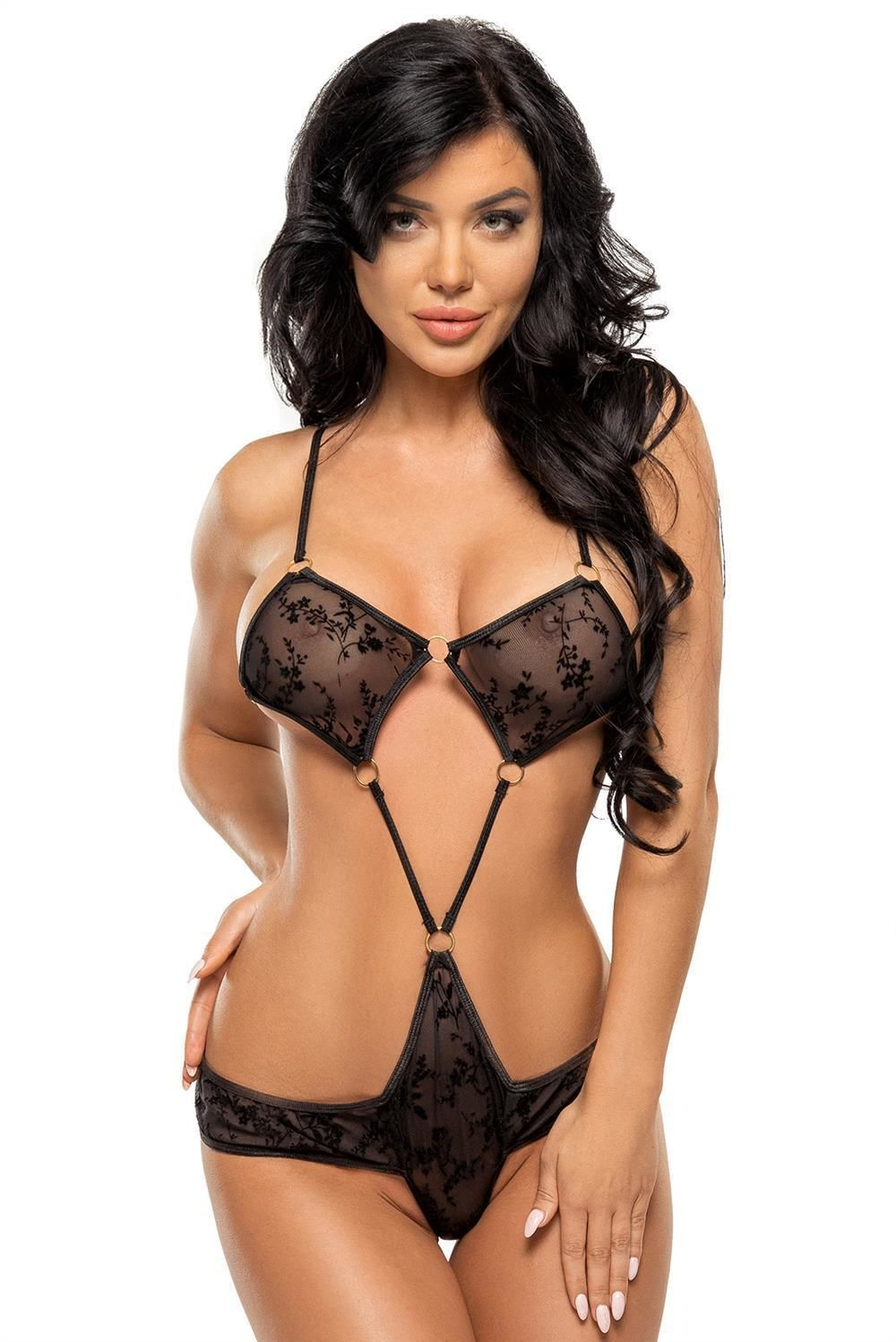 Body Dinah teddy S/M, L/XL schwarz