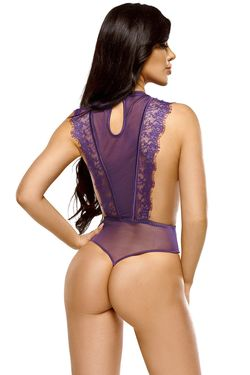 Body Emiliana teddy purple S/M (36/38)