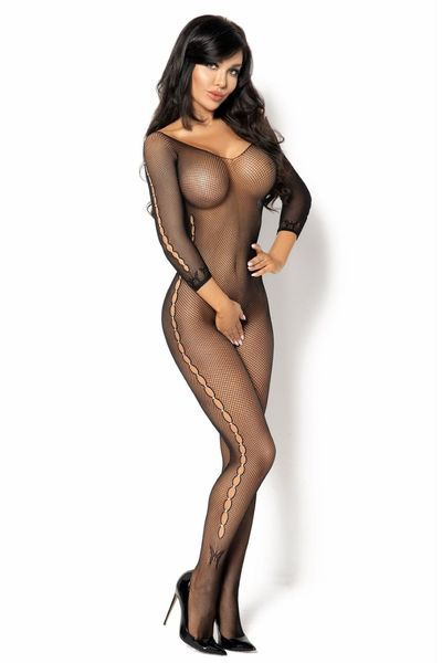 Bodystocking ouvert Martha diamond schwarz OneSize S/L